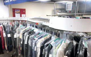 angora besco clothing commercial laundry rail from dane realstar