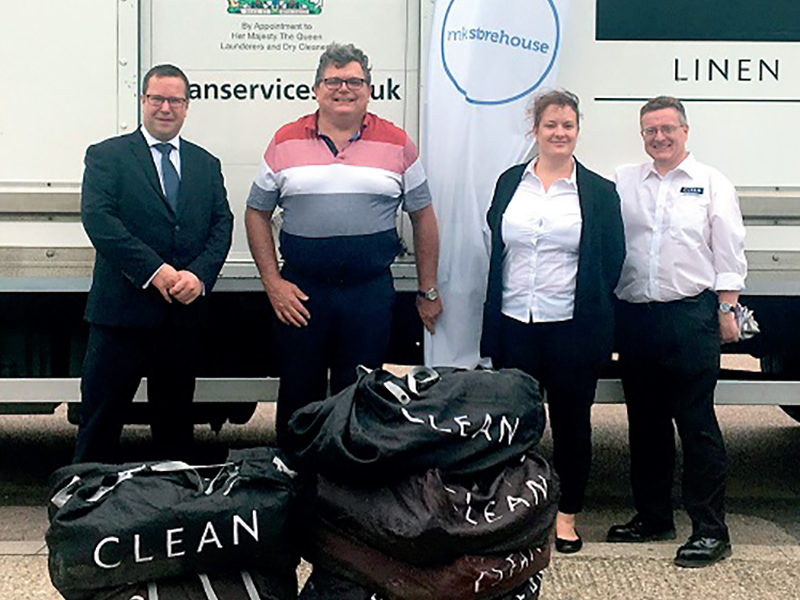 CLEAN donate bed linen to families in need