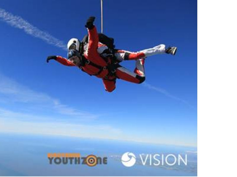 Vision and WestPoint Home in charity skydive