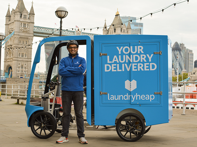 Laundryheap launches eco-friendly bike service