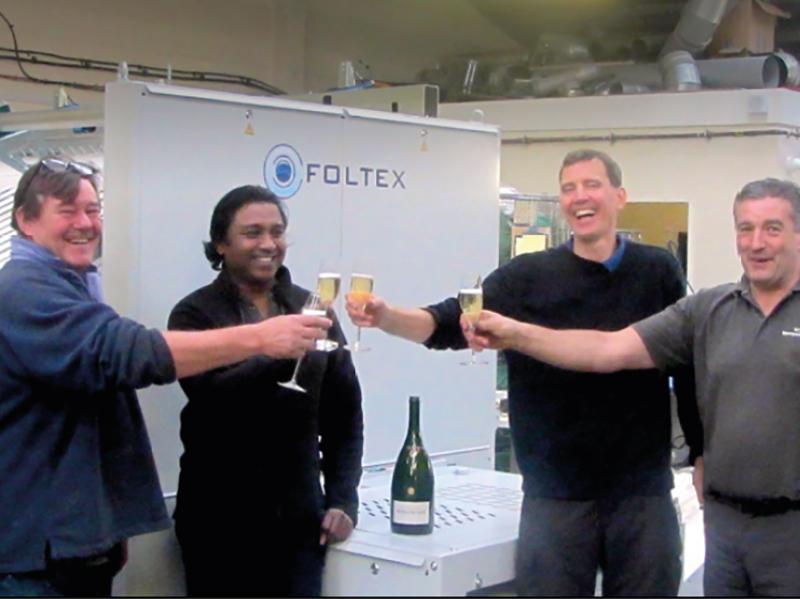 Foltex celebrate laundry milestone