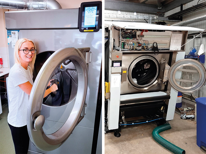WashCo connect with new laundry installs